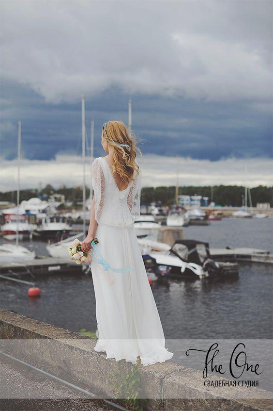 "Свадебное платье ""Billie"" от Rembo Styling в свадебном салоне The One в Санкт-Петербурге || boho wedding dress / boho bride / свадебное платье бохо / свадьба бохо / бохо невеста"