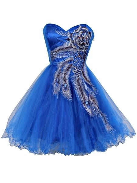 Embroidery Glorious Sweetheart Party Dress