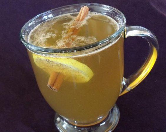 Hot Mulled Cider - German Glühmost I added cut up apple, orange, and ...