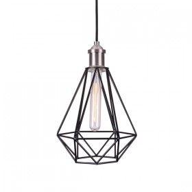 June21 Pendant Light Black In 2020 Industrial Pendant Lights Pendant Light Cage Ceiling Light