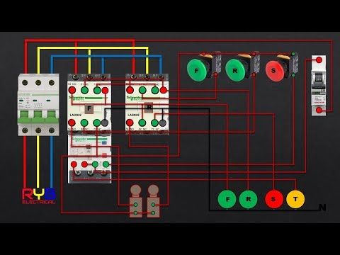 Three Phase Dol Starter Control And Power Wiring Diagram Reverse Forward With Limit Switch Youtube Electrical Jobs Light Switch Wiring Cable Tray