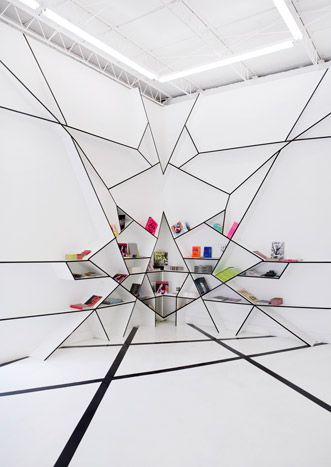 http://architectureatlarge.com/#/about  RAFAEL DE CÁRDENAS hello do you see me? #invisible #genius #trompeloell #book #case #shelf #shelves #white #lessimore #geometric