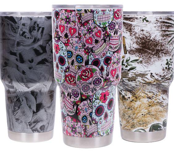 want!!!! Sugar Skulls! The Cup Factory | Custom Hydro-Graphics ...