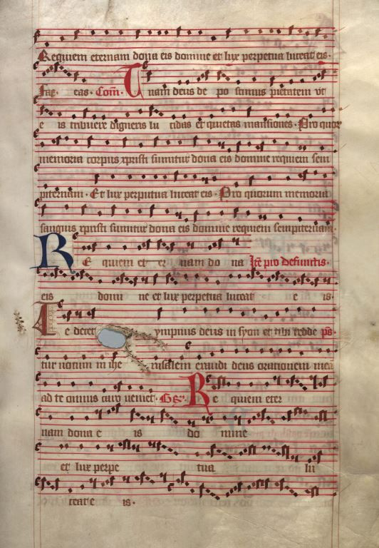 Moosburger Graduale um 1360 Moosburg Cim. 100 (= 2° Cod. ms. 156)  Folio 245