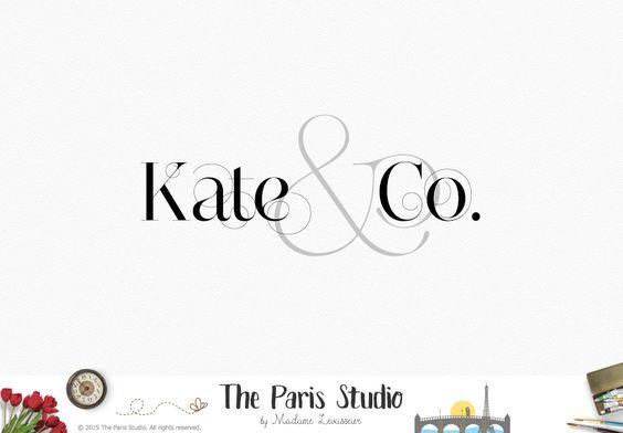 Typographic Ampersand Logo Design - website logo, boutique logo, creative business branding or small business logo.