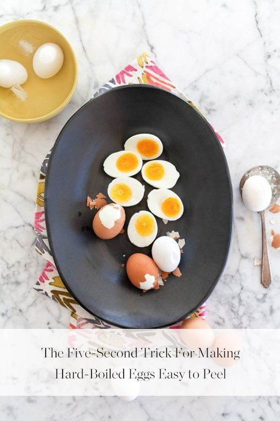 How to Make Hard-Boiled Eggs Easy to Peel | The o'jays, Eggs and ...