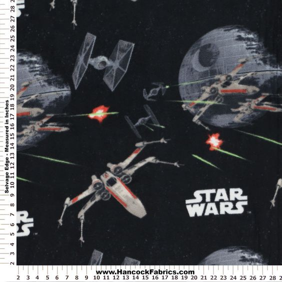Star wars spaceships fleece fabric and spaceships on for Spaceship fabric
