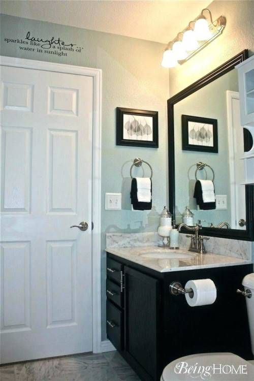 Sherwin Williams Light Blue Bathroom French Gray Gray And White Modern Bathroom Ideas Light French Gray Bathroom Makeover Bathrooms Remodel Light Blue Bathroom