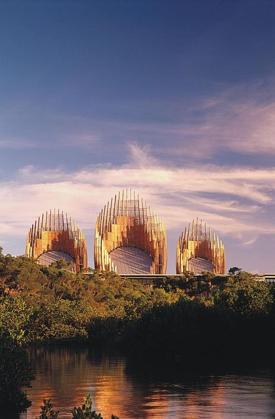 Jean-Marie Tjibaou Cultural Center in Noumea, New Caledonia by RPBW - Renzo Piano Building Workshop