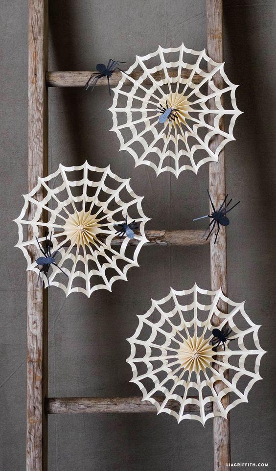 #Halloween #Halloweendecor #Spiderweb www.LiaGriffith.com::