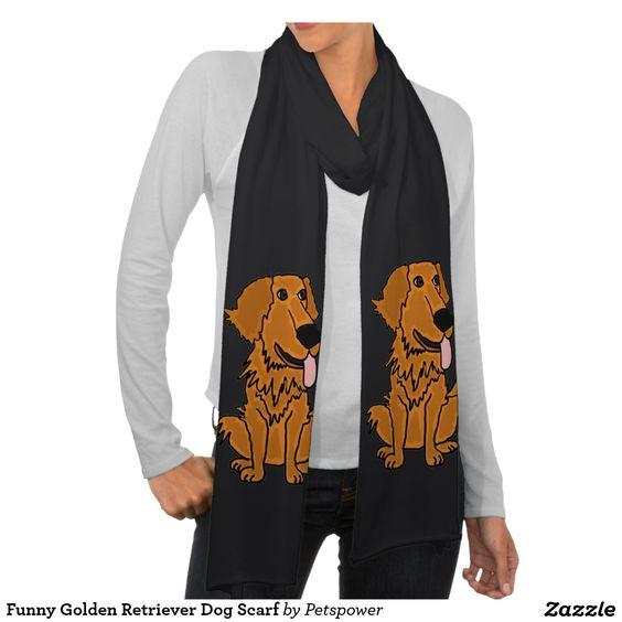 Funny Golden Retriever Dog Scarf