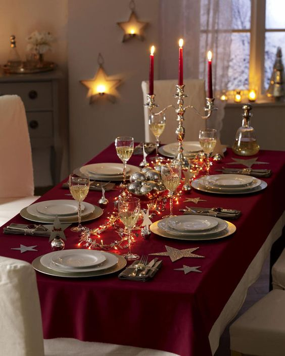 28 festive christmas dinner table decorations and easy diy