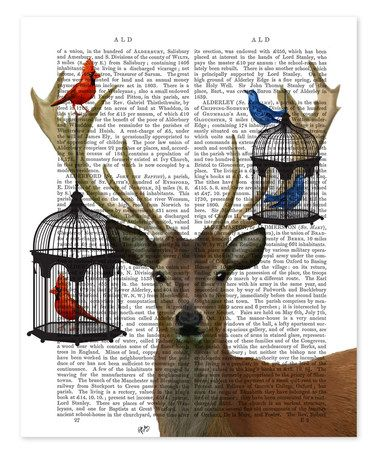 This Deer & Bird Cages Dictionary Print is perfect! #zulilyfinds
