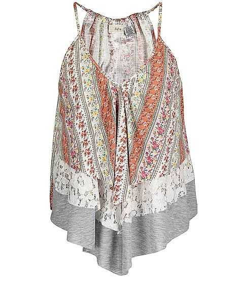 Daytrip Floral Tiered Trapeze Tank Top! Buying this!