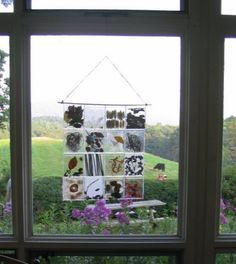 This is a great idea - made from CD cases filled by class members with found materials