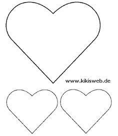 Herz In Verschiedenen Grossen Herzschablone 10