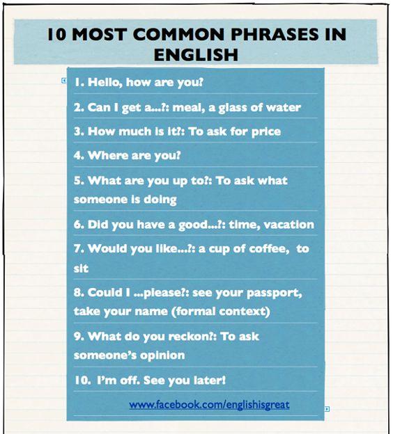 Toefl most common words