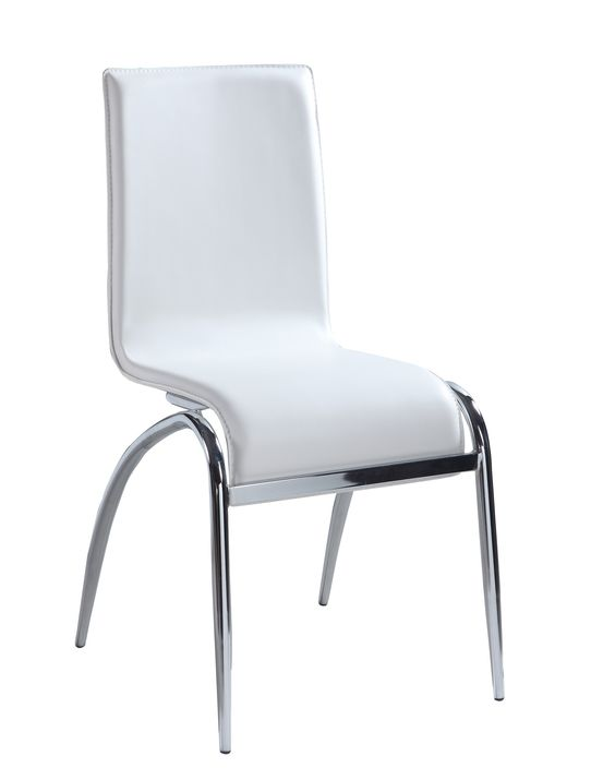 White Arch Leg Contemporary Side Chair (Set of 4)