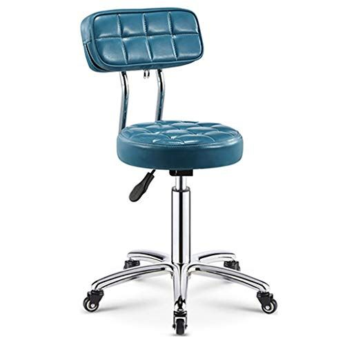Swiveling Chair Armless Swivel Desk Chair Office Chair With Wheels Pu Leather Modern Lounge Chair In 2020 Adjustable Bar Stools Modern Lounge Chairs Stool With Wheels