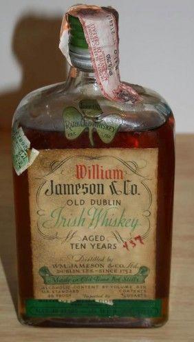 William Jameson Irish Whiskey 10 year old - Prohibition.