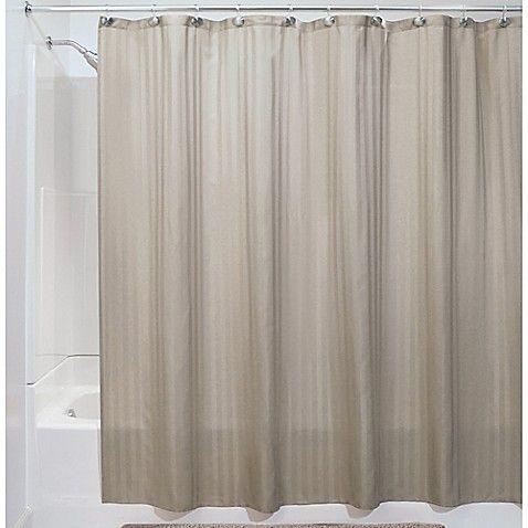 Idesign Satin Stripe Shower Curtain Liner Striped Shower Curtains Curtains Shower Curtain