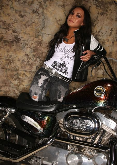rebel girl harley davidson motorcycle fashion my outfit for the party. Black Bedroom Furniture Sets. Home Design Ideas