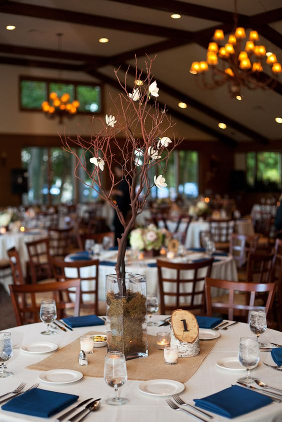 reception venue details rustic centerpiece Rebecca Pfeifer of Rebecca Pfeifer Photography shooting for Alison of Alison Kundratic Photography! Wisconsin Wedding