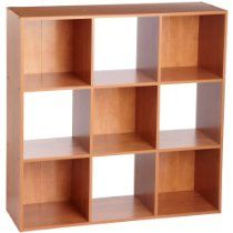 ClosetMaid 898000 9-Cube Stackable Laminate Organizer Alder