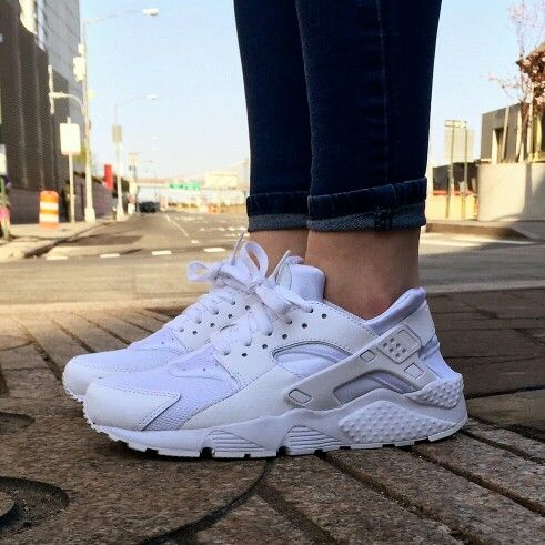 Nike Air Huarache Triple White Womens