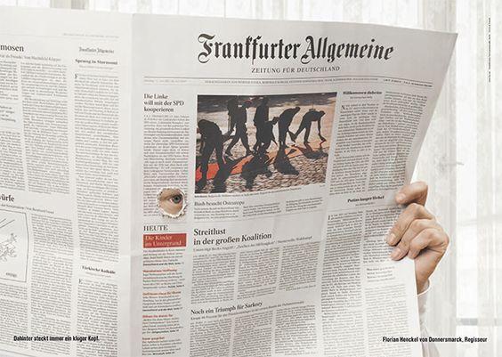 Oscar-Preisträger Florian Henckel von Donnersmarck blickt durch mit der F.A.Z. © Frankfurter Allgemeine Zeitung (FAZ) http://www.faz.net