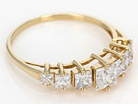 Cubic Zirconia 10k Yellow Gold Ring 1 62ctw Blg166 In 2020 Gold Rings Gold Yellow Gold Rings