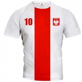 POLSKA 2014/15 Koszulka Piłkarska Biało-Czerwona Z Własnym Nadrukiem