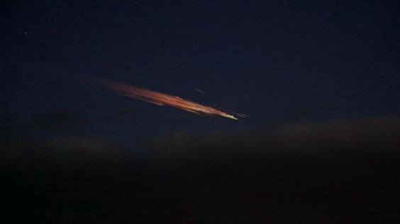 Comet over Germany on Christmas eve, 2011.