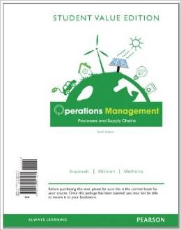Test Bank For Operations Management Processes And Supply Chains 10th Edition Lee Krajewski Operations Management Supply Chain Management