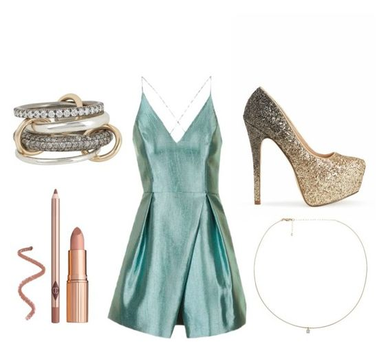 """""""Party Time #5"""" by bitter-sweet-reader ❤ liked on Polyvore featuring Topshop, SPINELLI KILCOLLIN and Loren Stewart"""