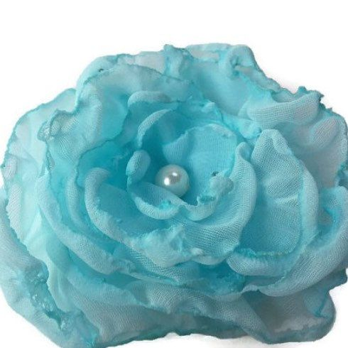 Gorgeous flower accessories https://www.etsy.com/listing/241572558/blue-flower-accessory-baby-blue-flower #wedding #handmade #love #etsyseller #bridal