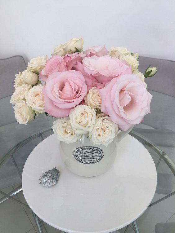 Flor linda, rosas, arranjo de vasos, vasos, decoração, arte