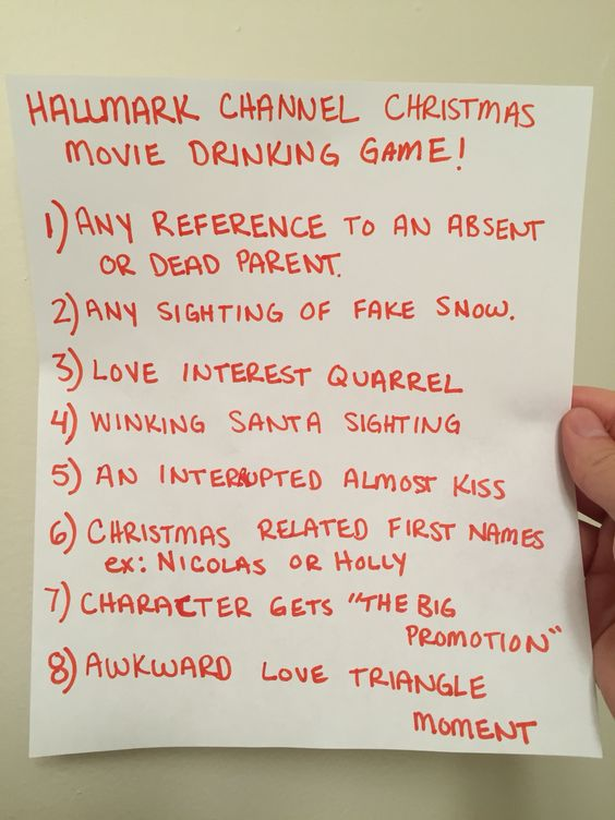 hallmark channel christmas movies and movie drinking