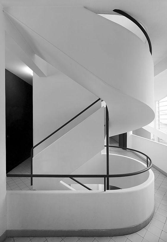 le corbusier stairs pinterest pierre jeanneret. Black Bedroom Furniture Sets. Home Design Ideas