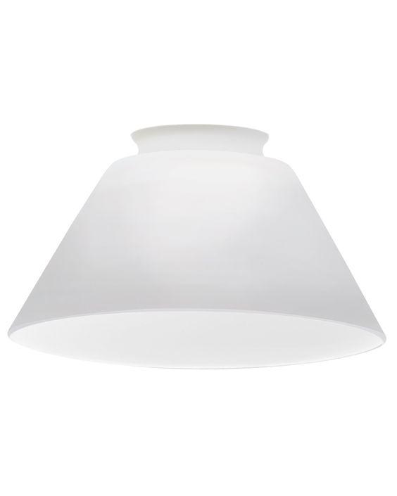 Amazon.com: Lithonia DCNE 1001 M6 Decorative Cone Shade, Opal White: Lamps & Light Fixtures
