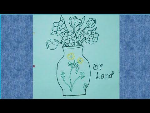 رسم اناء للزهور خطوه بخطوه للمبتدئين والأطفال رسم وتلوين مزهرية Easy Flower Vase Step By Step Youtube Art Youtube