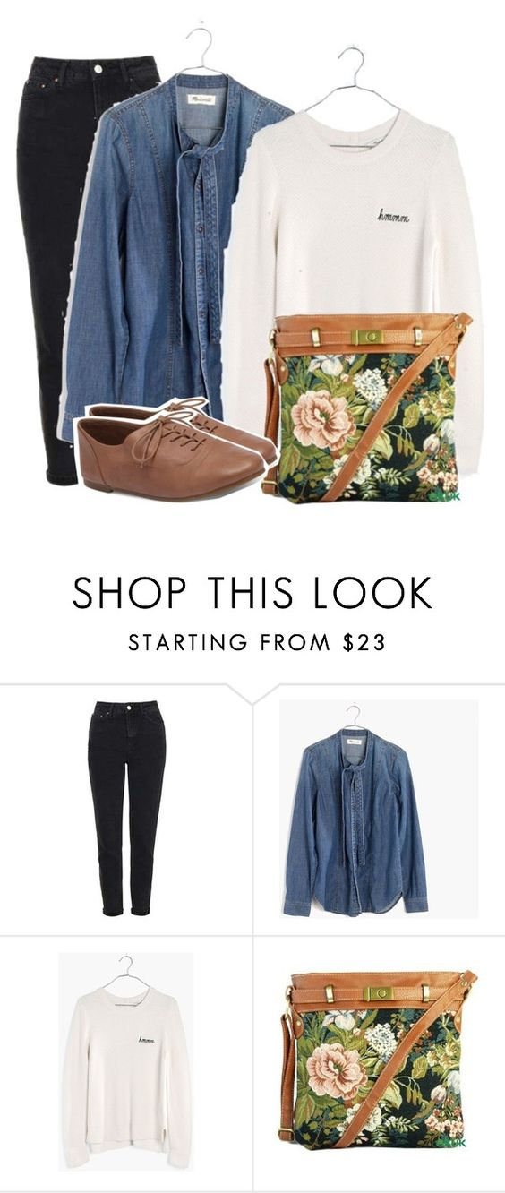 """""""So Real"""" by indieloverr ❤ liked on Polyvore featuring Topshop, Madewell and Lucky Brand"""