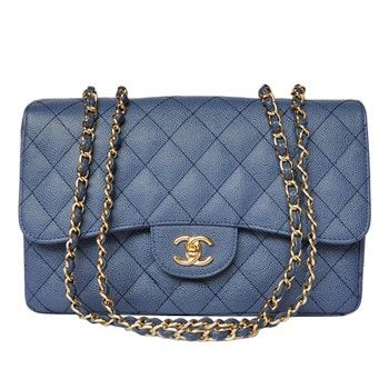 Chanel Shoulder Crossbody 28600 Gold chain Blue Sale