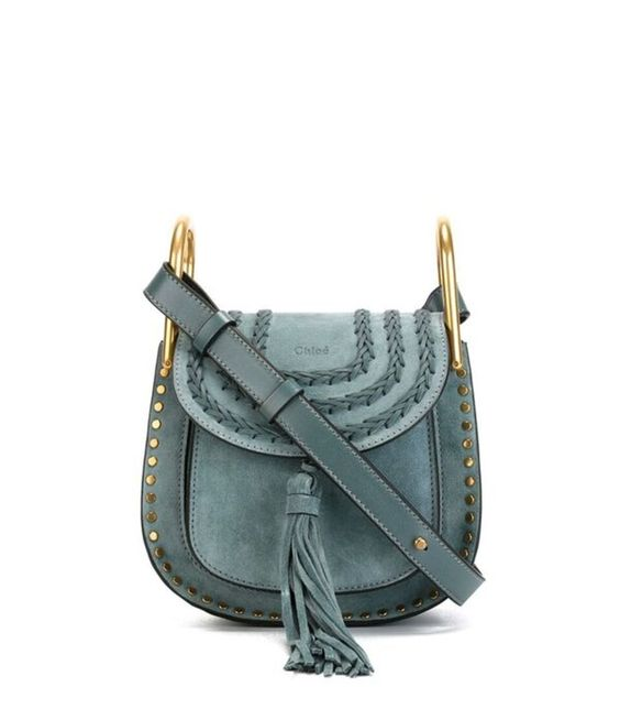 chloe small suede hudson bag