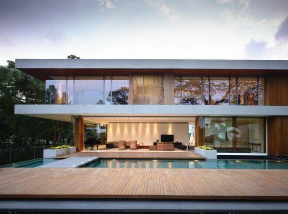 Veranda mit Podest aus Holz Gartenmöbel aus Polster