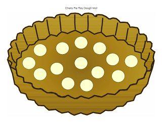 pie playdough mat