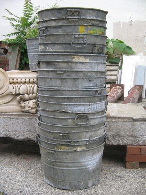 Vintage Galvanized Buckets: