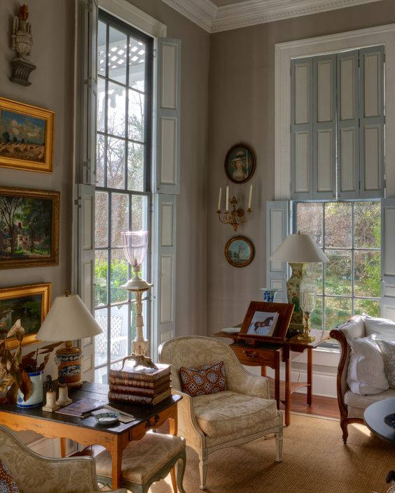 Country interiors english country decor and english - Shutters for decoration interior ...