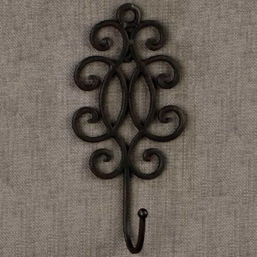 Use this Decorative Wrought Iron Wall Hook to bring an elegant touch to any room and a functional place to hang your keys!