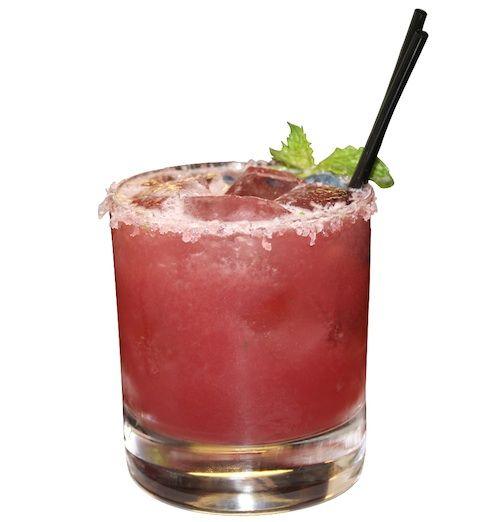 Fresa Breeze Margarita. Tequila blanco, lime, strawberry, cucumber.